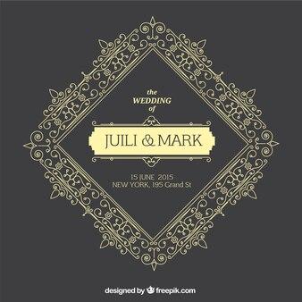 Ornement carte de mariage