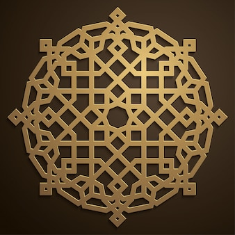 Ornement de cercle marocain géométrique arabe