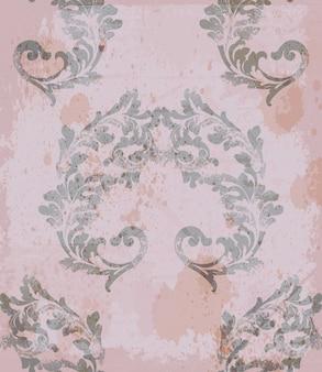 Ornement classique de tissu de modèle royal