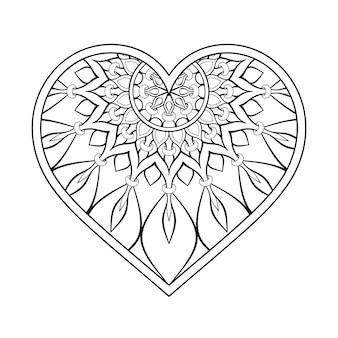 Ornement coeur avec mandala