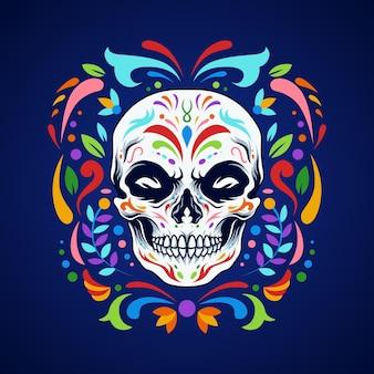 Ornement de crâne de dia de los muertos