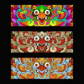 Ornement de culture garuda barong