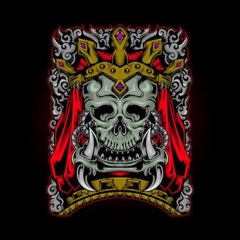 Ornement du roi crâne