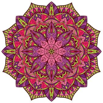 Ornement élégant oriental rose et violet