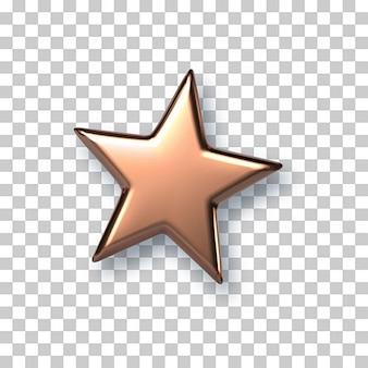 Ornement étoile de noël en cristal