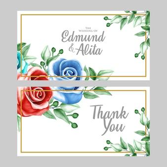 Ornement floral aquarelle pour carte d'invitation et cadeau