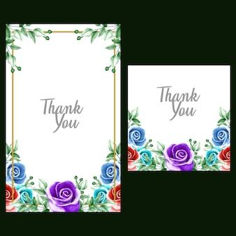 Ornement floral aquarelle pour faire-part de mariage et carte-cadeau