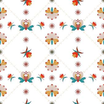 Ornement floral avec cellules de style hongrois