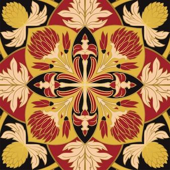 Ornement floral coloré. modèle pour châle, tapis, tuile, broderie.