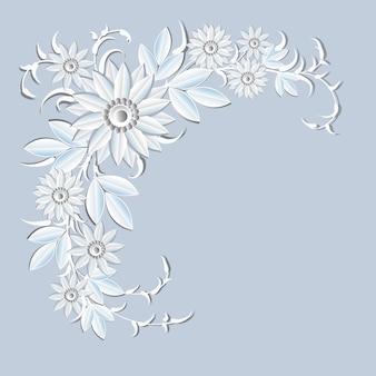 Ornement floral décoration de vacances fleurs blanches