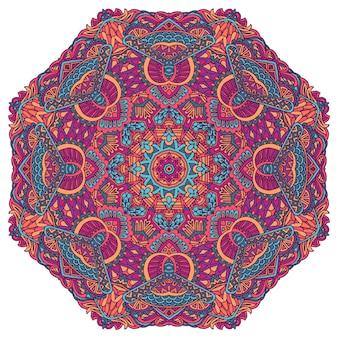 Ornement floral indien en cachemire ethnic mandala flower print