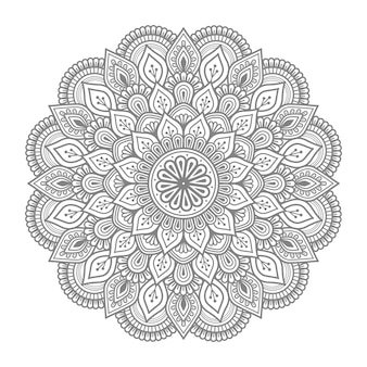 Ornement floral de mandala