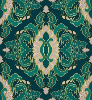 Ornement floral ornemental. modèle geen pour tapis, papier peint, textile