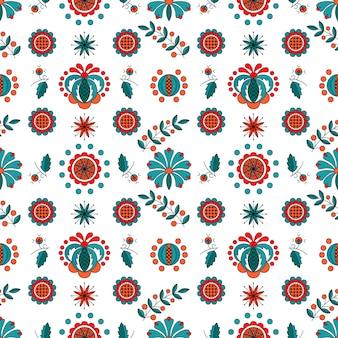 Ornement floral de style hongrois