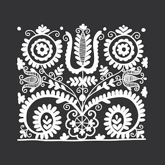 Ornement folklorique floral