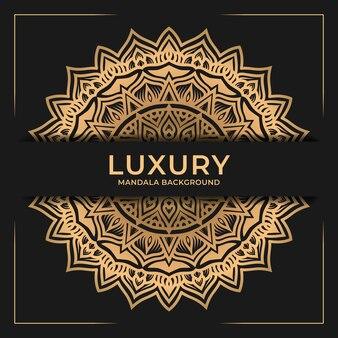 Ornement de fond de mandala de luxe