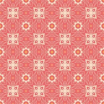 Ornement de fond transparente motif batik indonésien rose