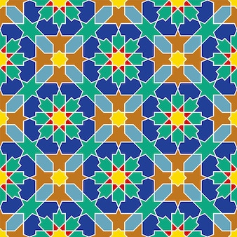 Ornement géométrique arabe sans couture basé sur l'art arabe traditionnel