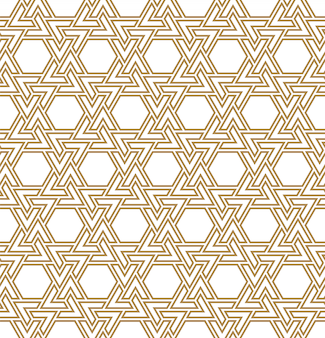 Ornement géométrique arabe sans couture de couleur brune. lignes doubles moyennes.