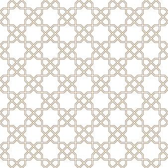 Ornement géométrique arabe sans couture de couleur brune.