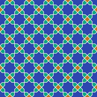 Ornement géométrique arabe sans soudure basé sur l'art arabe traditionnel.