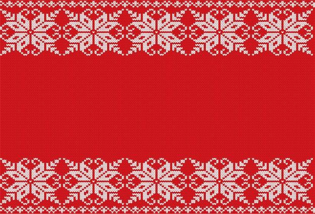 Ornement géométrique floral tricoté avec un espace vide pour le texte.