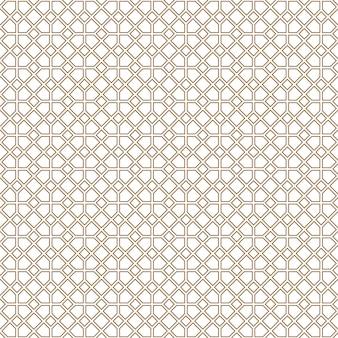 Ornement géométrique en lignes de couleur marron.