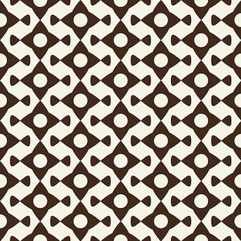 Ornement géométrique monochrome moderne à partir d'éléments abstraits