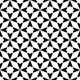 Ornement géométrique sans couture basé sur l'art islamique traditionnel. noir et blanc. excellent design pour le tissu, le textile, la couverture, le papier d'emballage, l'arrière-plan.