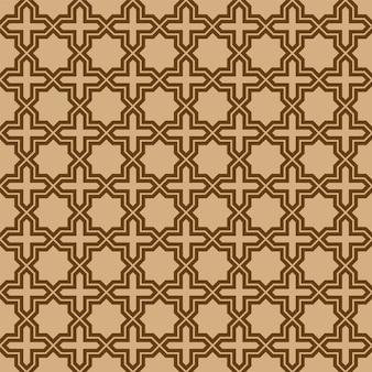 Ornement géométrique sans soudure basé sur l'art arabe traditionnel.
