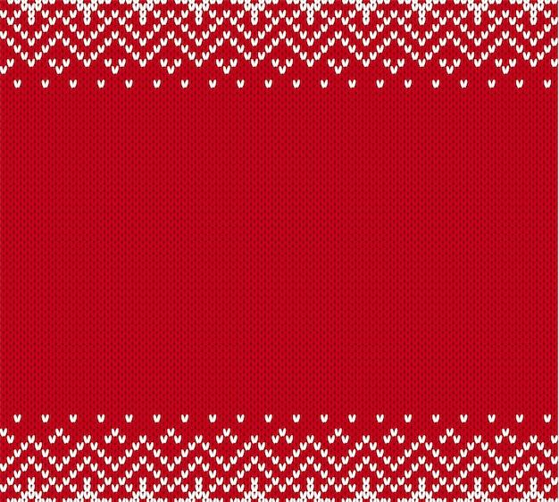 Ornement géométrique en tricot de noël