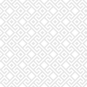 Ornement grec traditionnel carré gris vintage sans soudure, meander