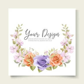 Ornement d'invitation de mariage floral