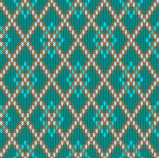 Ornement jacquard sans couture en laine tricotée