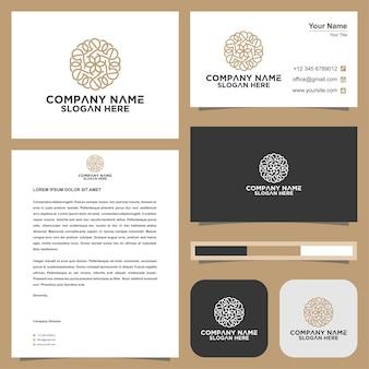 Ornement logo et carte de visite premium