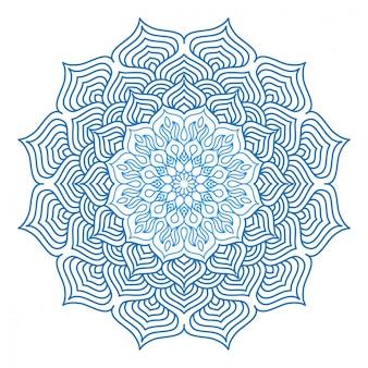 Ornement de mandala circulaire