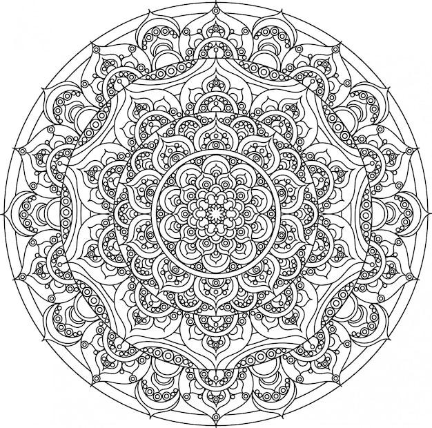 Ornement de mandala décoratif de vecteur