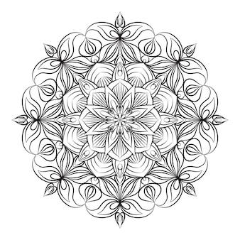 Ornement de mandala. éléments décoratifs vintage.