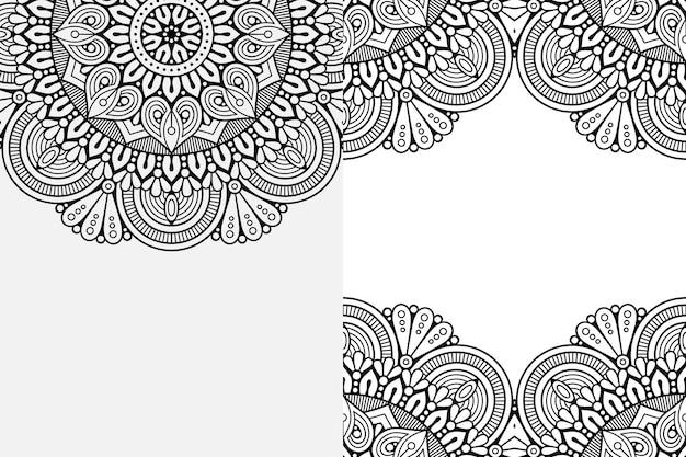 Ornement de mandala. fond d'éléments décoratifs vintage
