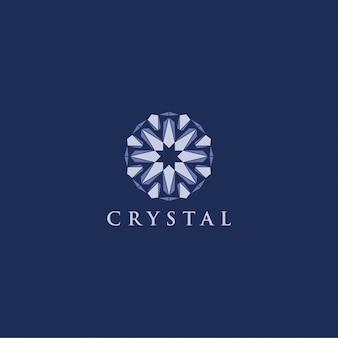 Ornement moderne logo diamant diamant