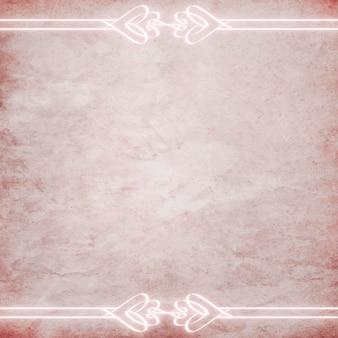 Ornement néon vintage en fond texturé