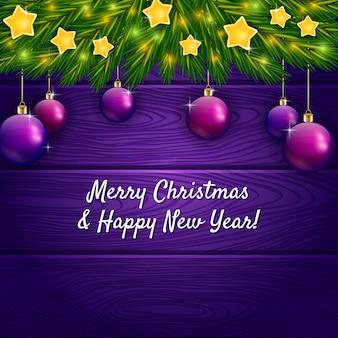 Ornement de noël et voeux de nouvel an
