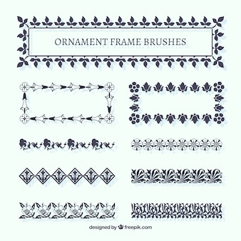 Ornement pinceaux frame