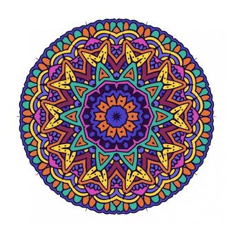 Ornement rond de cercle avec style mandala
