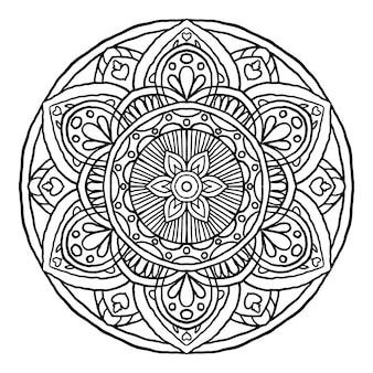Ornement rond décoratif mandala