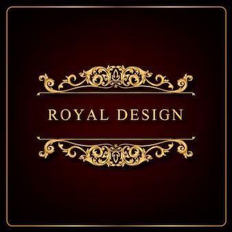 Ornement royal tourbillonne et vintage