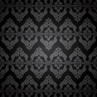 Ornement sombre classique de vecteur oriental