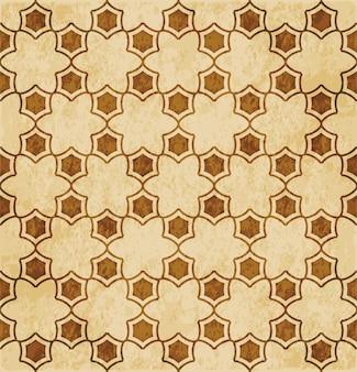 Ornement de style oriental de fond de géométrie transparente islam rétro brun