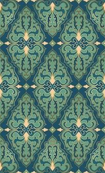 Ornement turquoise oriental. modèle pour tapis, textile, papier peint.