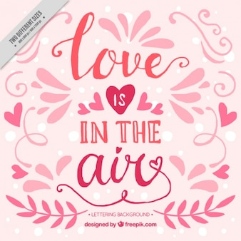 Ornemental fond valentine avec le message d'amour
